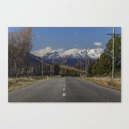 Where the Mountains meet the Road - Wanaka, New Zealand Canvas Print