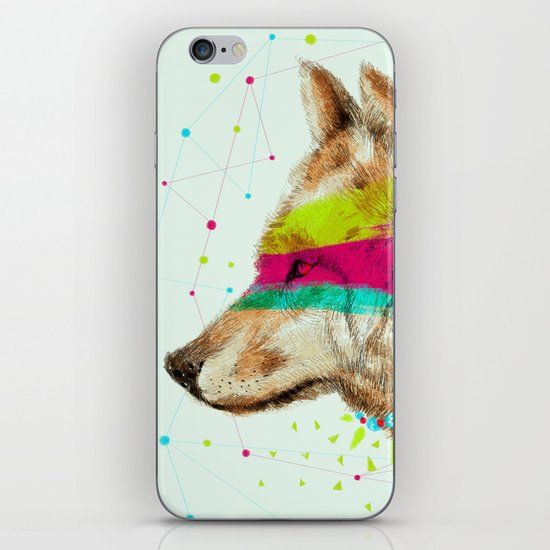 Cherokee Wolf II iPhone & iPod Skin