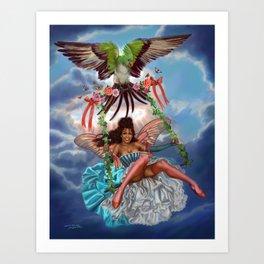 Swing Fairy Art Print