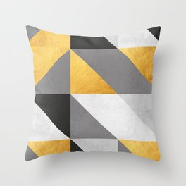 Gold Composition I Throw Pillow