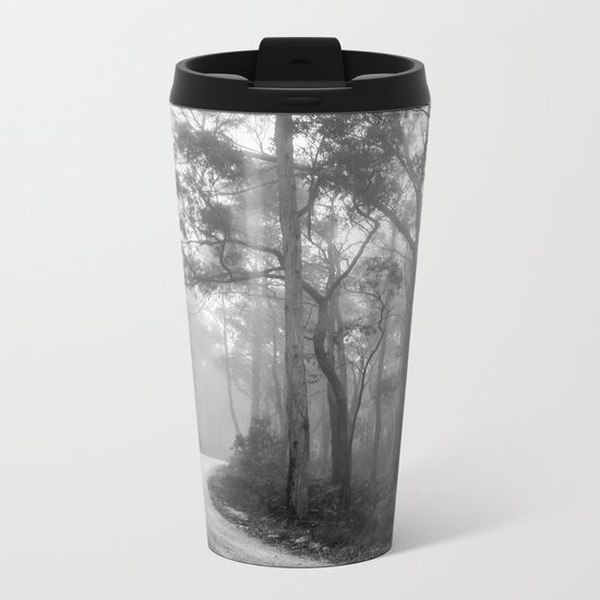 Misty Forest Path Metal Travel Mug