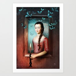 A Light in the Dark Art Print
