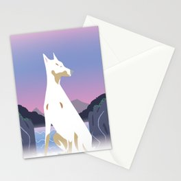 Spirit dog and Waterfall Stationery Cards