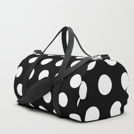 Polkadots (White & Black Pattern) Duffle Bag