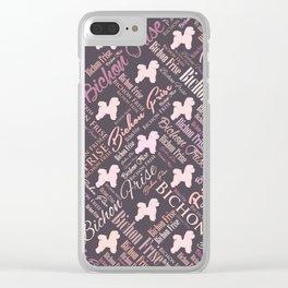 Bichon Frise Word Art Clear iPhone Case