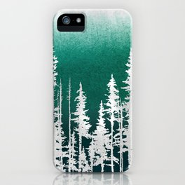 Evergreen Trees iPhone Case