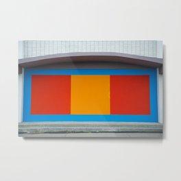 Minimal Colorful wall Metal Print