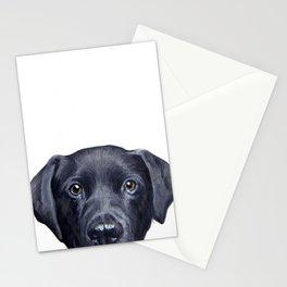 Labrador with white background Dog illustration original painting print Stationery Cards