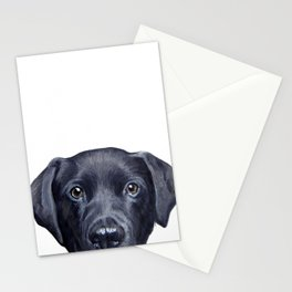 Labrador with white background Dog illustration original painting print Stationery Cards