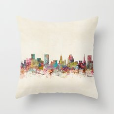 baltimore maryland Throw Pillow
