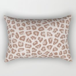 Abstract hipster brown white cheetah animal print Rectangular Pillow