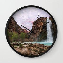 Havasu Waterfall in a Desert Wall Clock