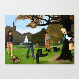 Take Your Trousers For A Walk. Canvas Print