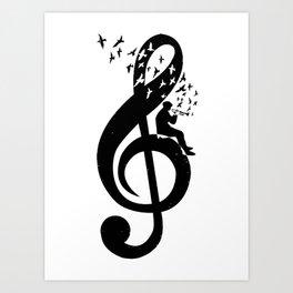 Treble Clef - Bugle Art Print
