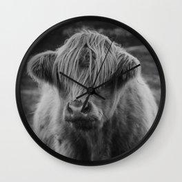 Highland cow III Wall Clock