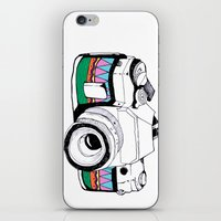 camera iPhone & iPod Skins featuring Camera by Mariam Tronchoni