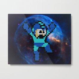 Bitwork Beadwork Mega Man Metal Print