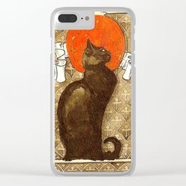 "Théophile Steinlen ""Cat"" Clear iPhone Case"
