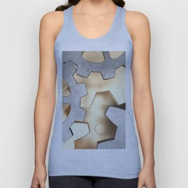 Abstract with the gears Unisex Tank Top