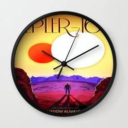 Vintage poster - Kepler-16b Wall Clock