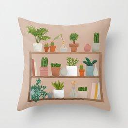 Plant Mama Shelfie Throw Pillow