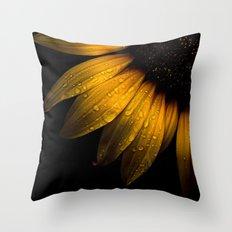 Backyard Flowers 28 Sunflower Throw Pillow