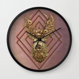 Rosegold deer Wall Clock