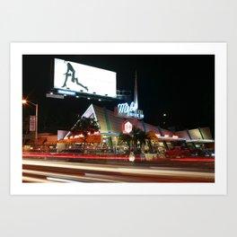 Mel's Drive in (LA) Art Print