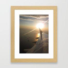 Boston Harbor at Sunset Framed Art Print