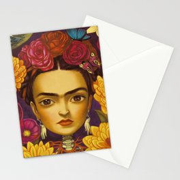 Frida Flowers Stationery Cards