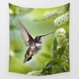 Hummingbird Love Wall Tapestry