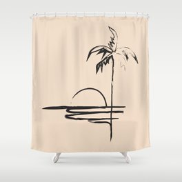 Abstract Landscpe Shower Curtain