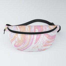 Pink-orange marble pattern Fanny Pack