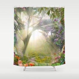 Fairyland Sunset Garden of Alix Shower Curtain