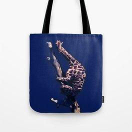 Blue Giraffe In The Tree ?! Tote Bag