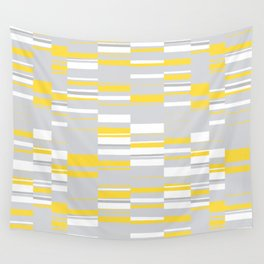 Mosaic Rectangles in Yellow Gray White #design #society6 #artprints Wall Tapestry