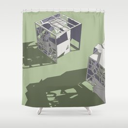 Broken Next 01 Shower Curtain