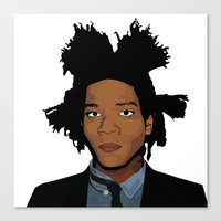 basquiat Canvas Prints featuring Basquiat by evanski