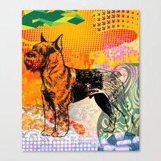 Schnauzer pop art Canvas Print