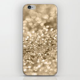Champagne Gold Lady Glitter #2 #shiny #decor #art #society6 iPhone Skin