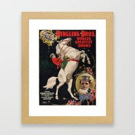 Vintage poster - Circus Framed Art Print