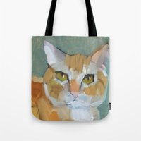 garfield Tote Bags featuring Garfield by Suzanna Schlemm
