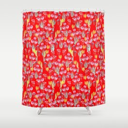 Tulips in red Shower Curtain