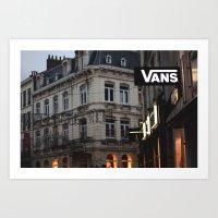 vans Art Prints featuring Vans by ptitlouis