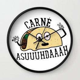 Carne Asuuuhdaaah Wall Clock