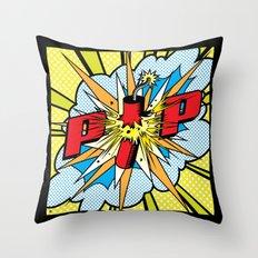 Firecracker POP Art Throw Pillow