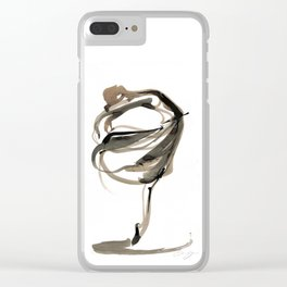 Ballet Dance Drawing Clear iPhone Case
