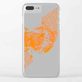 Explorer Orange and Grey Clear iPhone Case