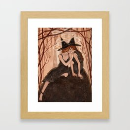 Witch Art - Whispers Only Sisters Understand Framed Art Print