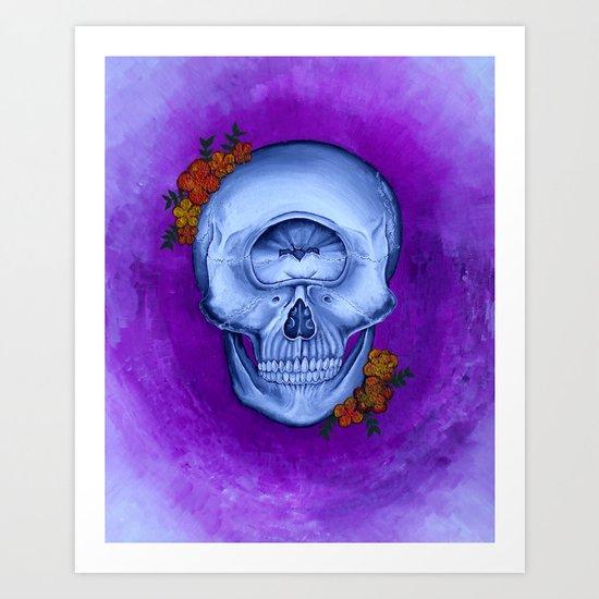 Cyclopse Skull Acrylic Painting Art Print